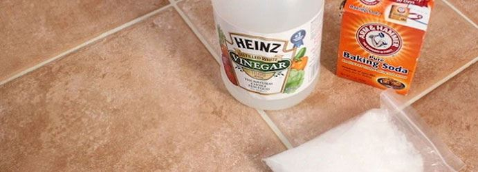 Tile and Grout Cleaning with Vinegar and Baking Powder